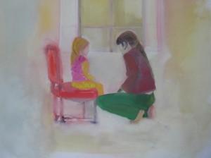Cuélas, 2006 Huile sur toile 100 x 150 cm