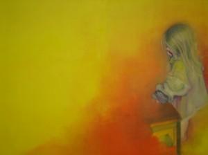 Margot, 2006 Huile sur toile 100 cm x 250 cm