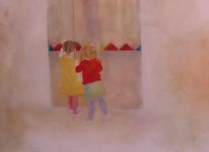 Entre-deux, 2005 Huile sur toile  120 cm x 85 cm