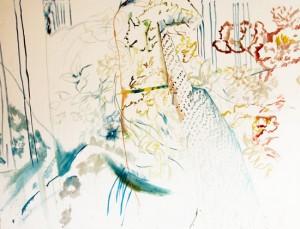Filigrane, 2007 Huile sur toile, 300cm x 230cm.