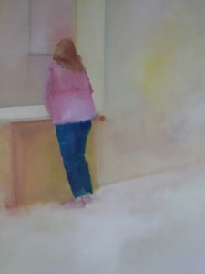 Huis-clos, 2006 Huile sur toile 100 x 150 cm