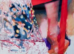 Pois et chair, 2007 Huile sur toile, 300cm x 230cm.
