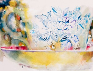 Tasse, 2007 Huile sur toile, 220cm x 160cm.