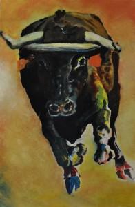 Julio 2006 Huile sur bois 50 cm x 100 cm